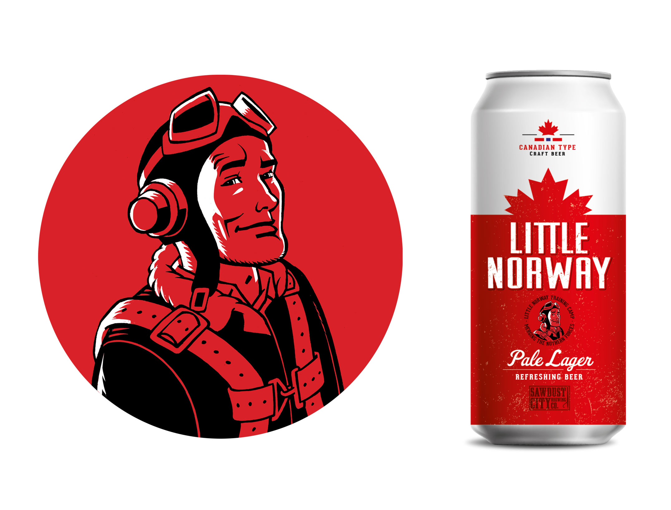 Anders Westerberg | Little Norway pale lager. Öletikett.