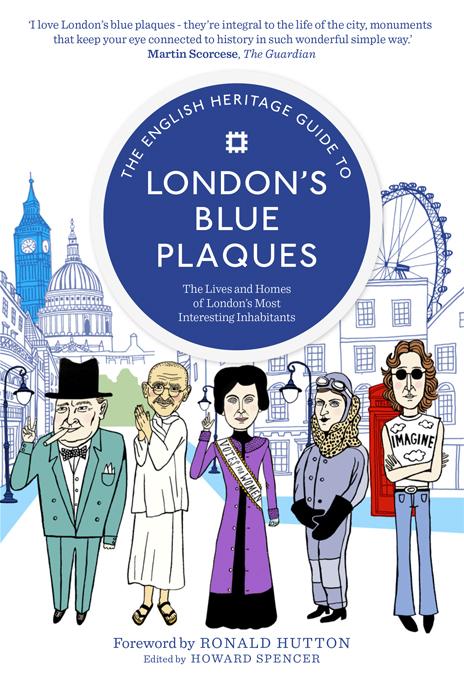 Maria Raymondsdotter | Bokomslag med några Londonbor: Winston Churchill, Gandhi, Emily Pankhurst, Amy Johnson and Lennon.
